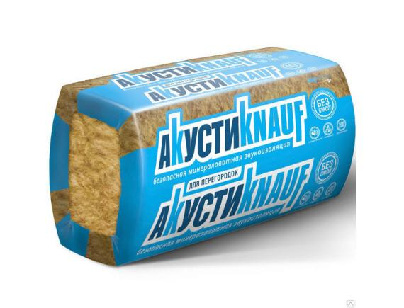 Шумоизоляция АкустиКнауф/АкустиKnauf 1230x610x50 мм (12м2,0.6м3)