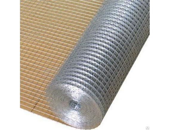 Сетка сварная оцинкованная 25х25 мм D 0,9 мм (1х25м)