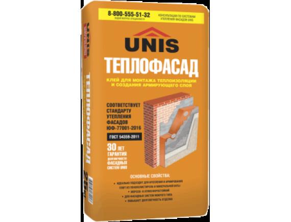 Клей для монтажа теплоизоляции Unis  / Юнис Теплофасад 25 кг