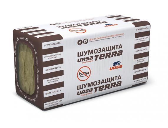 Теплоизоляция Ursa Terra/Урса Терра 34 PN Шумозащита 1000х610х50 мм 10 плит в упаковке
