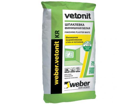 Шпатлевка полимерная Weber-Vetonit KR/Вебер-Ветонит КР 20 кг