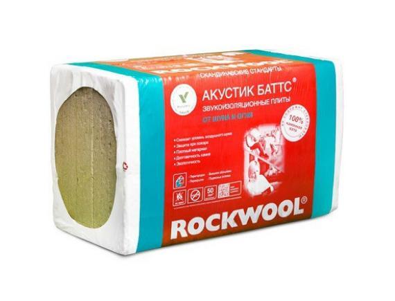 Базальтовая вата Rockwool / Роквул Акустик Баттс 1000х600х100 мм 5 штук в упаковке