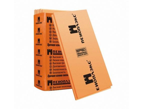 Теплоизоляция Пеноплэкс Фундамент 1185x585x50 мм 7 плит в упаковке (4,8526 м2;0,2429 м3)