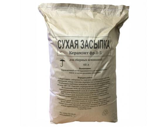 Засыпка керамзитовая для пола 0,04 м3
