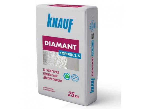 Штукатурка KNAUF DIAMANT / КНАУФ ДИАМАНТ КОРОЕД 2,5 мм (25 кг)