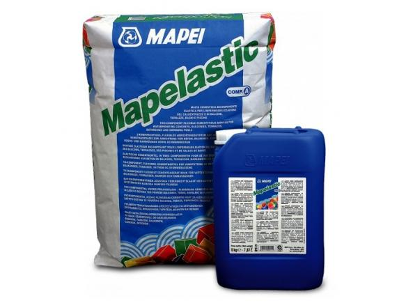 Гидроизоляция двухкомпонентная Mapei / Мапей Mapelastic 32кг
