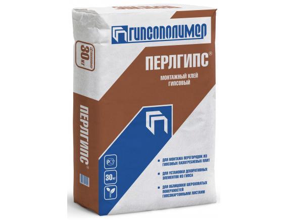 Клей монтажный Гипсополимер Перлгипс 30 кг