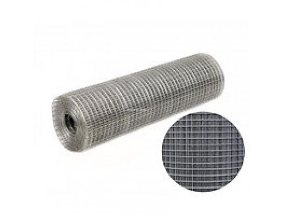 Сетка сварная оцинкованная 6х6 мм D 0,6 мм (1х15м)