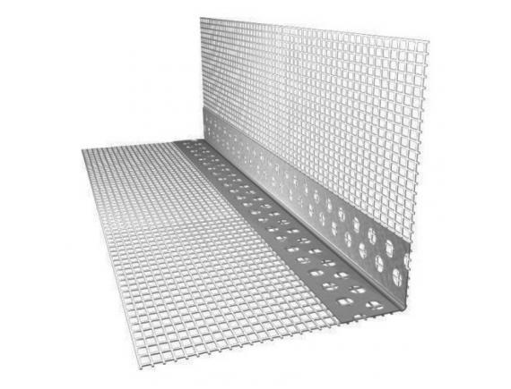 Профиль угловой ПВХ с армирующей сеткой 10х15 мм 2500 мм