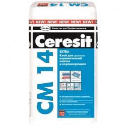 Клей для керамической плитки и керамогранита Ceresit/Церезит CM 14 Extra 25 кг