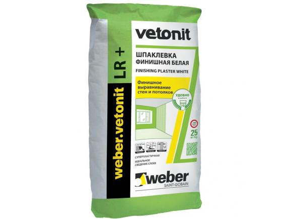Шпатлевка финишная Weber-Vetonit LR+/Вебер-Ветонит ЛР+ 25 кг