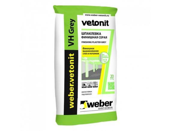 Шпатлевка Weber-Vetonit VH/Вебер- Ветонит  серая 20 кг