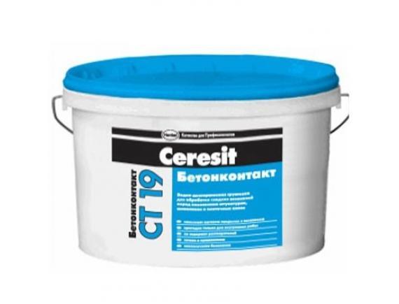 Грунтовка Ceresit/Церезит CT 19 бетонконтакт 15 кг