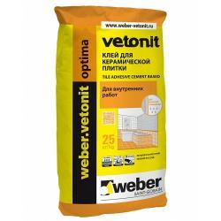 Клей для плитки Weber-Vetonit Optima/Вебер-Ветонит Оптима 25 кг